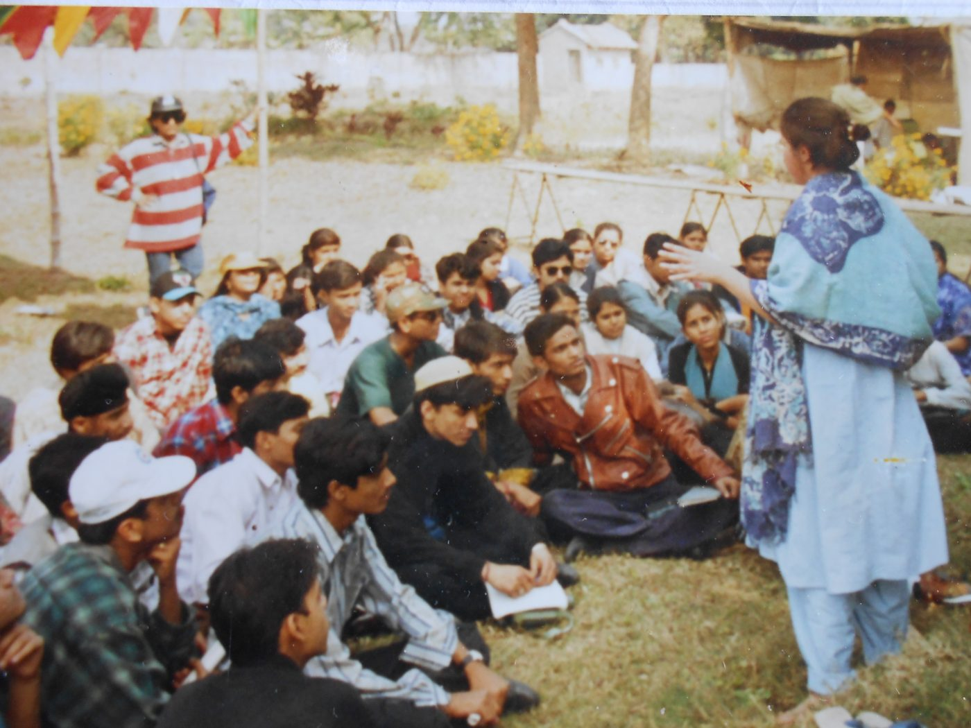 maryjane teaching permaculture in India